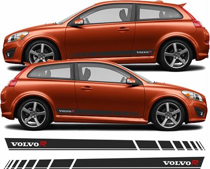 Picture of Volvo C30 R Design side Stripes / Stickers