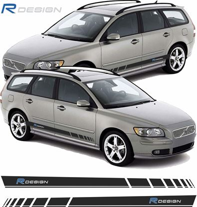 Picture of Volvo V50 R Design side stripes / Decals / Stickers