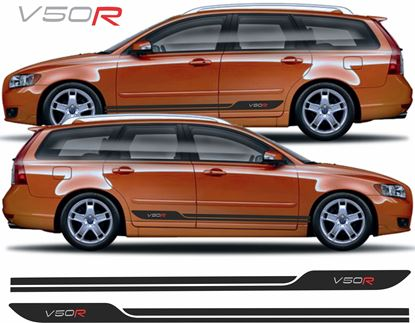 Picture of Volvo V50 R side stripes / Decals / Stickers