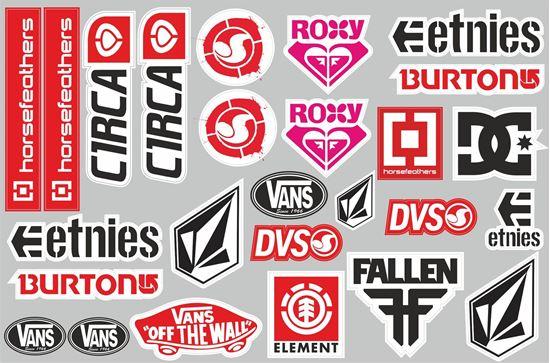 Picture of Skateboard Sticker Sheet