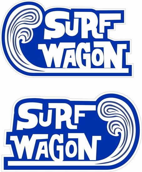 """Picture of """"Surfing Wagon""""""""  Decals / Stickers"""