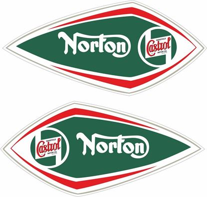 Picture of Norton Castrol Decals / Stickers