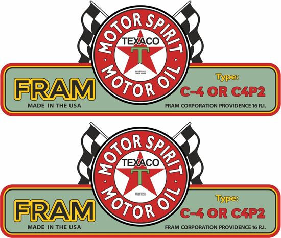 Picture of Texaco Fram Decals / Stickers