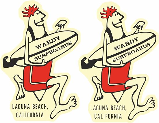 "Picture of ""Wardy Surfboards""""  Decals / Stickers"