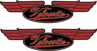 Picture of Velocette tank / Panel restoration Decals / Stickers