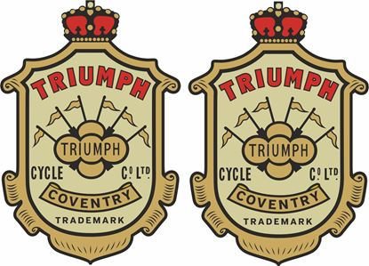 "Picture of ""Triumph Cycle Co"" Decals / Stickers"