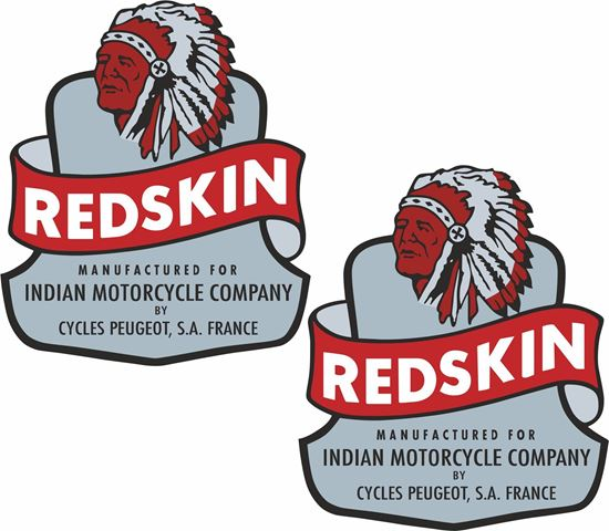 Picture of Indian Redskin Decals / Stickers