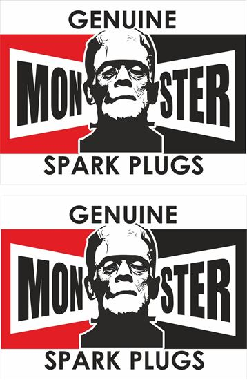 Picture of Genuine Monster Spark Plugs Decals / Stickers