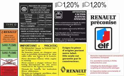 Picture of Renault Clio Williams / 16S replacement Engine / Body Decal / Sticker set