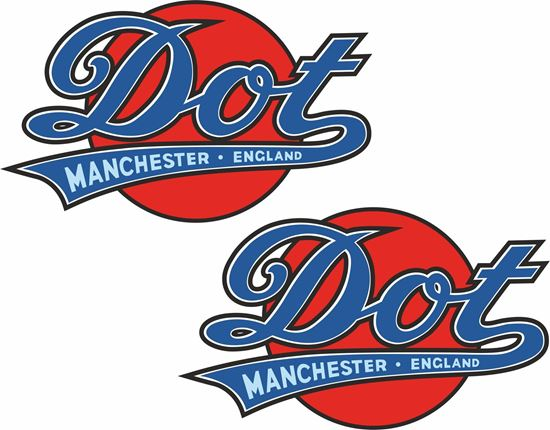 Picture of DOT Motorcycle Decals / Stickers