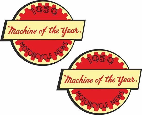 """Picture of Ariel """"Machine of the year"""" Motorcycle Decals / Stickers"""