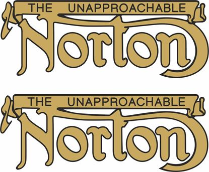 "Picture of Norton ""The Unapproachable"" Decals / Stickers"