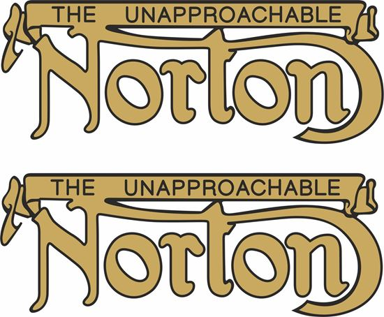 """Picture of Norton """"The Unapproachable"""" Decals / Stickers"""