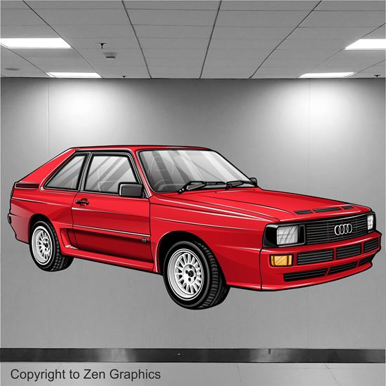 Picture of Audi Sport Quattro Wall Art sticker (Full Colour)