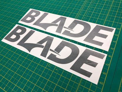 "Picture of Isuzu D-Max ""Blade"" replacement lower door Decals / Stickers"