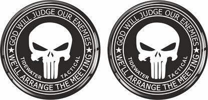 Picture of Punisher 50mm Exterior Gel Badges