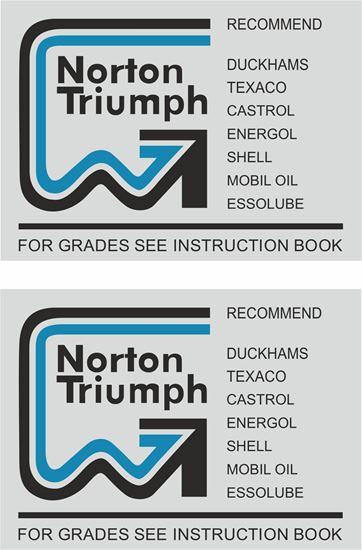 Picture of Norton / Triumph restoration Decal / Sticker