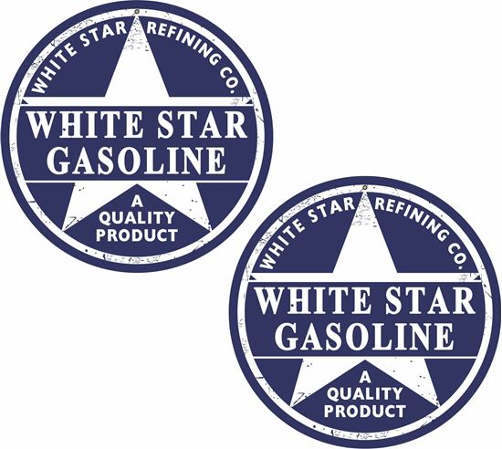 Picture of White Star Gasoline Decals / Stickers