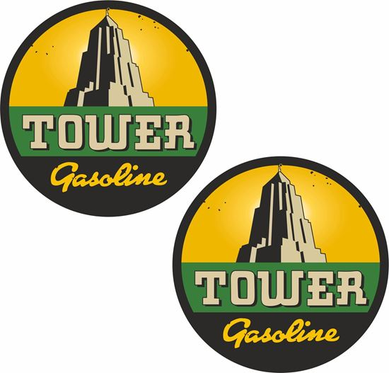 Picture of Tower Gasoline Decals / Stickers