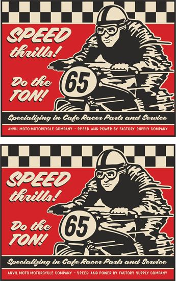 "Picture of Anvil Motorcycle Co ""Speed Thrills!"" Decals / Stickers"