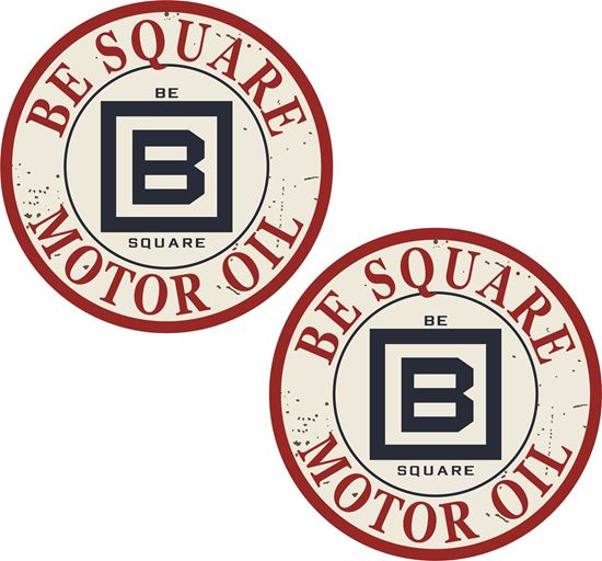 Picture of Be Square Motor Oil Decals / Stickers