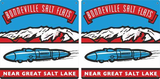 "Picture of ""Bonnevile Salt Flats"" Decals / Stickers"