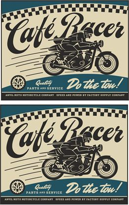 "Picture of Anvil Motorcycle Co ""Cafe Racer"" Decals / Stickers"