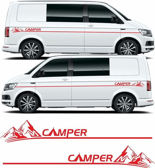 Picture of VW T5 / T6 Camper side Stripes / Stickers