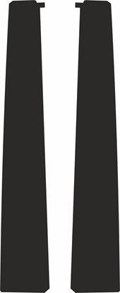 Picture of Citroen Saxo Door Pillar Textured Matte Black Vinyl