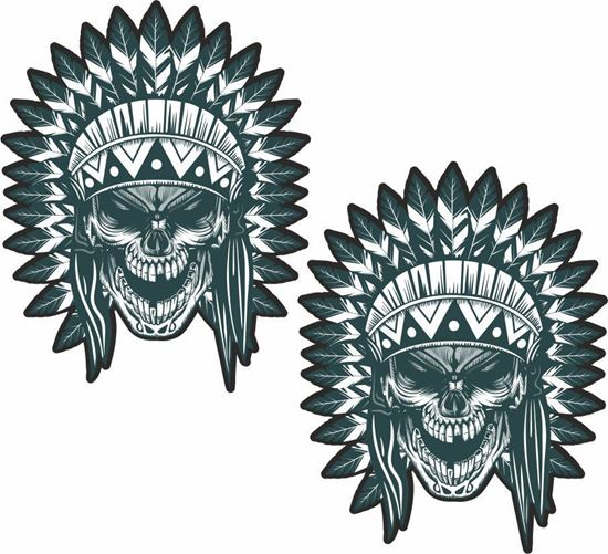 Picture of Skull Indian panel  Decals / Stickers