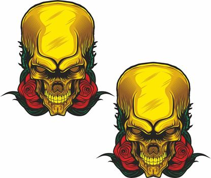 Picture of Skull panel  Decals / Stickers