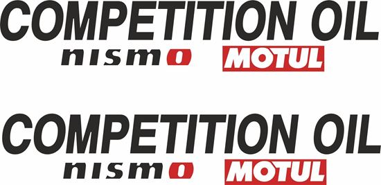 "Picture of ""Competition Oil Nismo Motul."" Decals / Stickers"