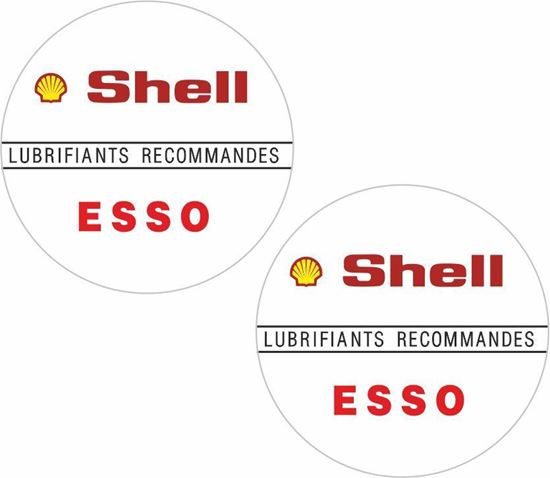 Picture of Peugeot 205 GTI Shell / Esso Lubricant Decals / Stickers