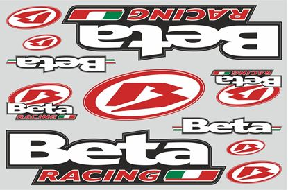 "Picture of ""Beta Racing""  Track and street race sponsor Sticker Sheet"