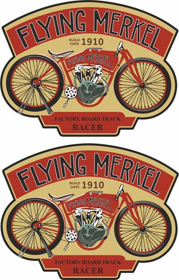 Picture of Flying Merkel Motorcycle Decals / Stickers