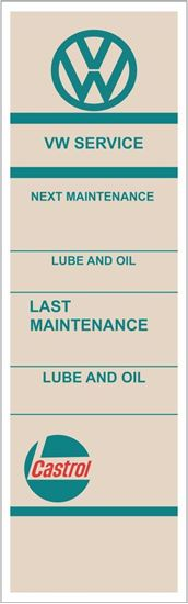 Picture of VW Castrol Classic Service / Maintenance Stickers
