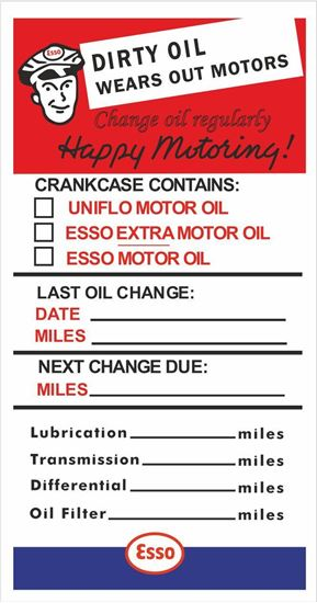 Picture of Esso Service / Maintenance Stickers