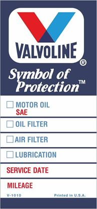 Picture of Valvoline Classic Service / Maintenance Stickers