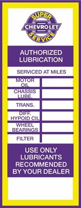Picture of Chevrolet Classic Service / Maintenance Stickers