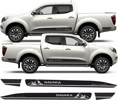"Picture of Nissan Navara Expedition ""Born to Explore"" side Graphics / Stickers"
