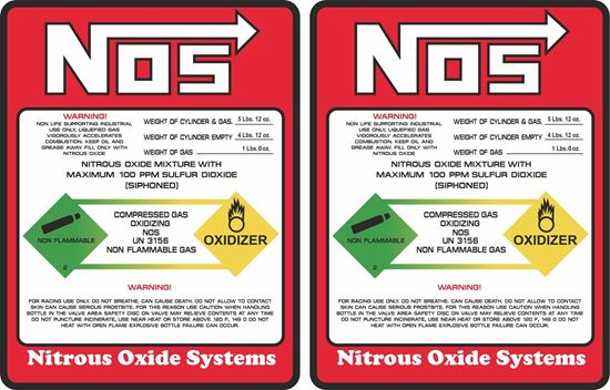 Picture of NOS Decals / Stickers