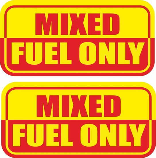 Picture of Mixed Fuel only Decals / Stickers
