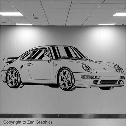 Picture of Porsche 993 Turbo Wall Art sticker
