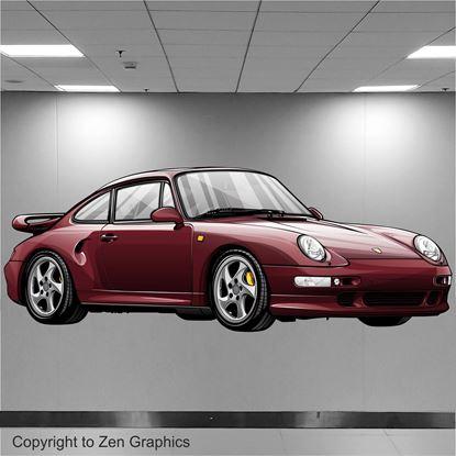 Picture of Porsche 993 Turbo Wall Art sticker (full colour)
