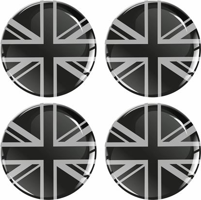 Picture of Union Jack Wheel Centre Gel Badges