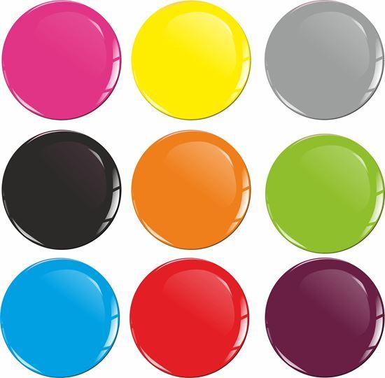 Picture of Wheel Centre Gel Badges PLAIN COLOUR