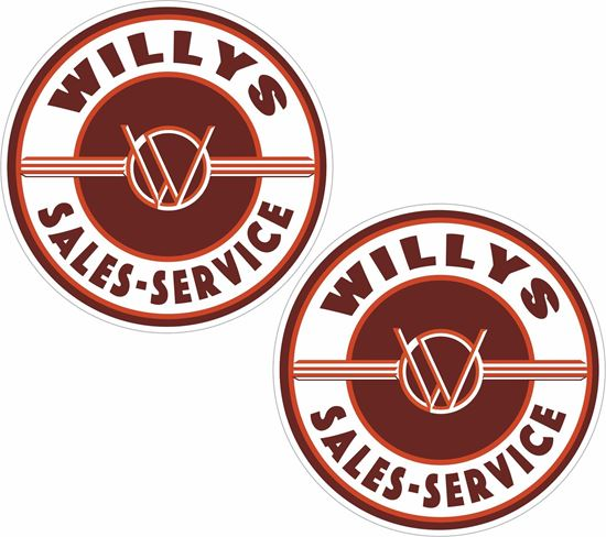 Picture of Willys Sales - Service  Decals / Stickers