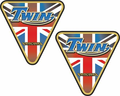 "Picture of Triumph ""twin Racing Pedigree"" Decals / Stickers"