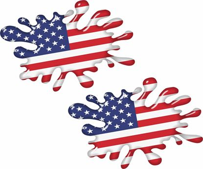 Picture of United States Splat Decals / Stickers