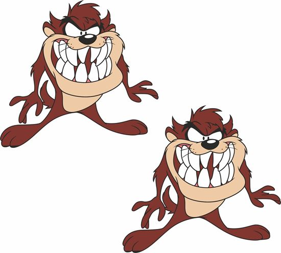Picture of Tazmanian Devil Decals / Stickers